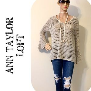 Ann Taylor Loft Bell Sleeves Slouchy Sweater NWT
